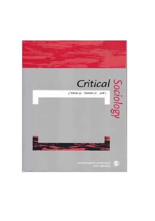 Critical Sociology, vol.44, n°7-8 2018