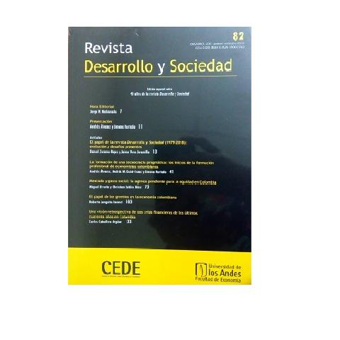 Revista Desarrollo y Sociedad. No. 82, Enero-Junio 2019.