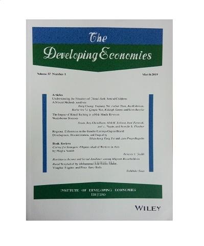 The Developing Economies. Vol. 57, No. 1. Marzo 2019.