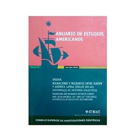 Anuario de Estudios Americanos. Vol. 76. Nº 1. Enero-Junio 2019.