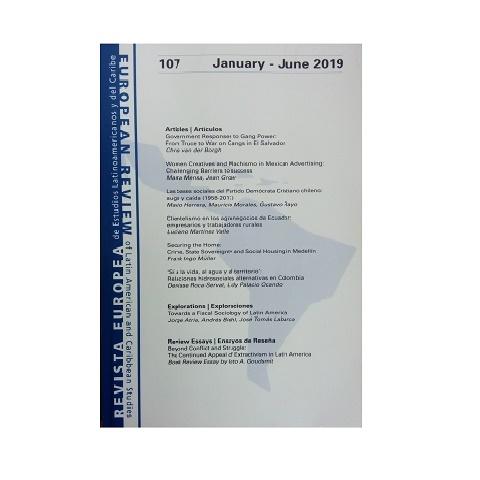Revista Europea de Estudios Latinoamericanos y del Caribe 107. Enero- junio 2019.